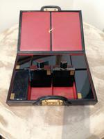 Gents Art Deco Leather Suitcase & Dressing Case (9 of 13)