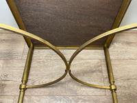 French Brass Square Leather Top Coffee Table (27 of 28)
