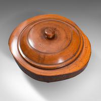 Pair Of Antique Carved Lidded Bowls, Treen, English, Yew, Victorian, Circa 1900 (8 of 12)