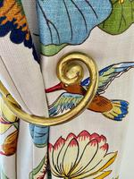 Pair of Solid Brass Curtain Loops c.1920 (3 of 6)
