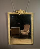 Large painted French chateau style mirror (2 of 8)
