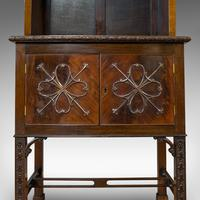 Compact Antique Open Bookcase, Mahogany, Sideboard, Dresser, Edwardian c.1910 (2 of 12)