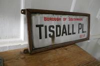 Framed Enamel Southwark Street Sign, Tisdall Place, London (3 of 4)