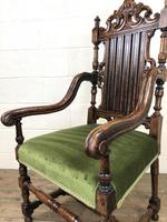 Victorian Carved Oak Armchair (7 of 10)