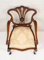 Pretty Mahogany Open Carver Chair (7 of 8)