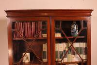 Georgian Glassed Bookcase in Mahogany & Inlays - 18th Century English (6 of 14)