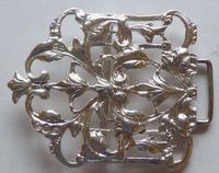 Victorian London 1894 Hallmarked Solid Silver Nurses Belt Buckle (8 of 9)