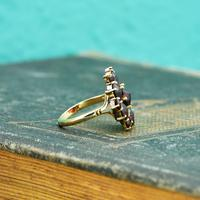 The Vintage Stepped Garnet Cluster Ring (5 of 5)
