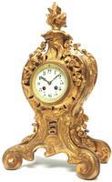 Impressive Candelabra Clock Set French Rococo Ormolu Bronze Mantel Clock. (2 of 10)