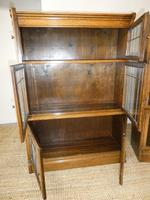 Pair of Oak 1920s Bookcases (10 of 12)