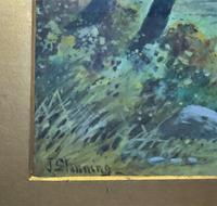 Near Darley Dale 19thc Derbyshire Sheppard Sheep  Landscape Watercolour Painting (11 of 13)