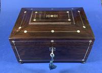 William IV Rosewood Jewellery Box