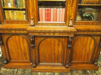 Victorian Mahogany Breakfront Cabinet Bookcase (7 of 19)