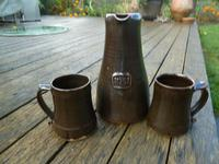 "Superb Large Bernard Leach, St Ives Pottery ""Festival of Britain"" Jug & Tankards 1951"
