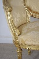 Pair of 19th Century French Gilt Louis XVI Style Armchairs (12 of 19)