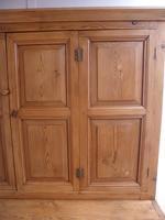 Original Georgian Waxed Antique Pine 1 Piece 6 Door Kitchen Dresser (6 of 9)