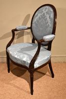 George III Mahogany Oval Back Armchair (2 of 6)