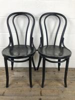 Set of Four Ebonised Bentwood Café Chairs (11 of 14)