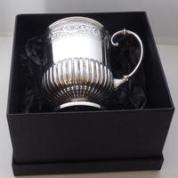 Rare Scottish Glasgow 1882 Solid Silver 1/2 Pint Tankard Christening Mug (9 of 13)
