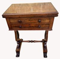 Lovely William IV Rosewood Card & Work Table (9 of 9)