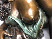 Art Deco Original Cold Painted Bronze Erotic Nude Lady Sculpture (5 of 31)