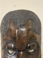 Huge African Hand Carved Free Standing Mask (4 of 6)