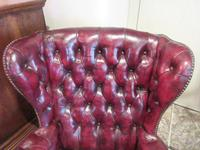 Antique Leather Chesterfield Wing Armchair (6 of 7)