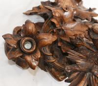 Black Forest Inkwell Hand Carved German Cuckoo Bird Sculpture 1860 (3 of 9)