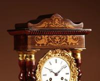 Original Antique Inlaid French Portico Clock c.1870 (3 of 8)