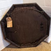 Early 20th Century Octagonal Oak Mirror (4 of 6)