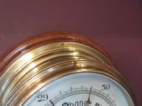 Antique London Bulkhead Marine Barometer (5 of 7)