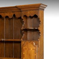 Good Mid 19th Century Oak Dresser & Rack (5 of 6)