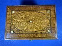 19th century French Walnut Inlaid Jewellery Box. (2 of 16)