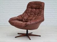 H.W.Klein, Danish swivel armchair, 70s, leather, original upholstery, very good condition (11 of 19)