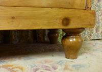 Victorian Stripped Pine Chest of Drawers with Shaped Upstand & Wooden Knobs (8 of 8)