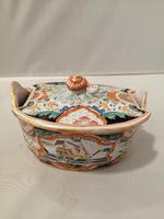 Incredible Quality 18th Century Dutch Delft doré Butter Tub (3 of 10)
