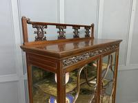 Carved Mahogany Display Cabinet (3 of 14)