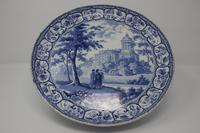Antique Blue & White Pearlware Italian Scene Cheese Stand (2 of 12)
