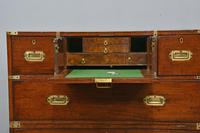 Antique Mahogany Campaign Military Chest Of Drawers (3 of 8)