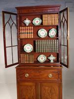 Attractive Regency Period Mahogany Secretaire Bookcase (4 of 5)