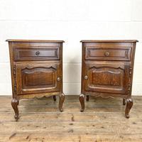 Pair of Oak Bedside Cabinets