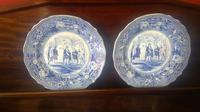 Pair of Antique Staffordshire Plates,History Series by Jones & Sons (5 of 6)