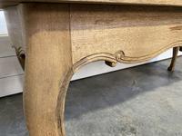 Bandy Leg French Bleached Oak Farmhouse Table (13 of 15)