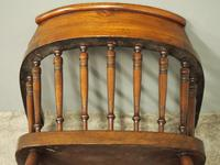 Set of 6 Red Walnut Captain's Chairs by W. Walker & Son (6 of 11)