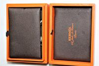 Superb Pair of Hermes of Paris Silver Hallmarked Cufflinks in their Original Box (5 of 7)