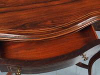 Victorian Inlaid Rosewood Serpentine Card Table (8 of 14)