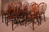 Set of 10 Windsor Wheelback Chairs 19th Century -  England (3 of 11)