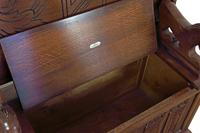 Jacobean Style Oak Monk's Bench (5 of 8)