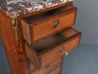 Tall French Inlaid Kingwood Chest of Drawers (5 of 12)