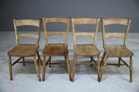 4 Rustic Elm Country Kitchen Chairs (11 of 14)